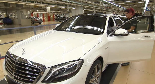 Mercedes S63 AMG in production