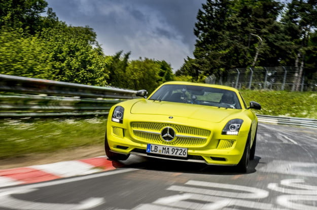 Mercedes SLS AMG Coupé Electric Drive on Nurburgring