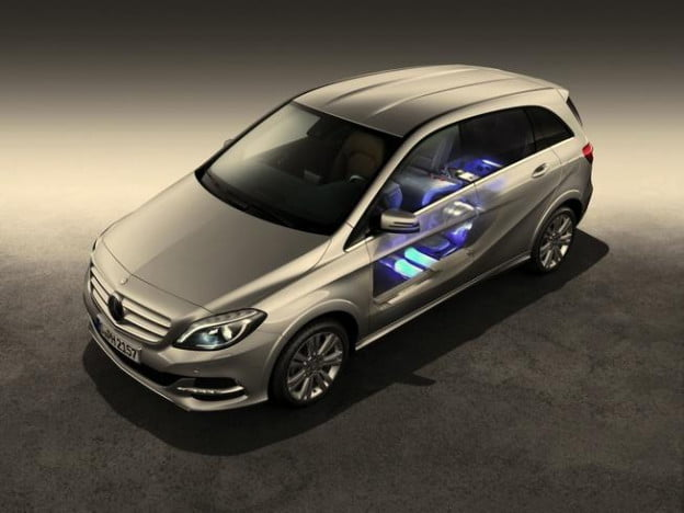 Mercedes-Benz B200 Natural Gas Drive cutaway view