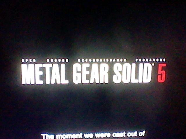 Metal Gear Solid 5 announced at SDCC