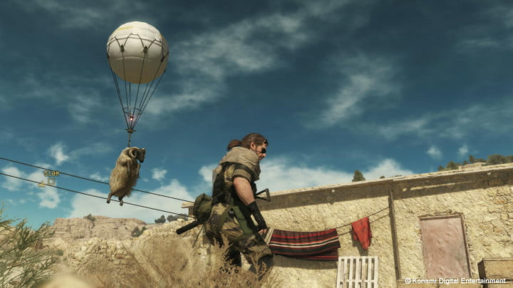 airlifted goats snake box sneak attacks metal gear solid v  phantom pain e