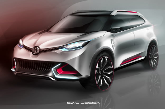 MG CS concept rendering front three quarter