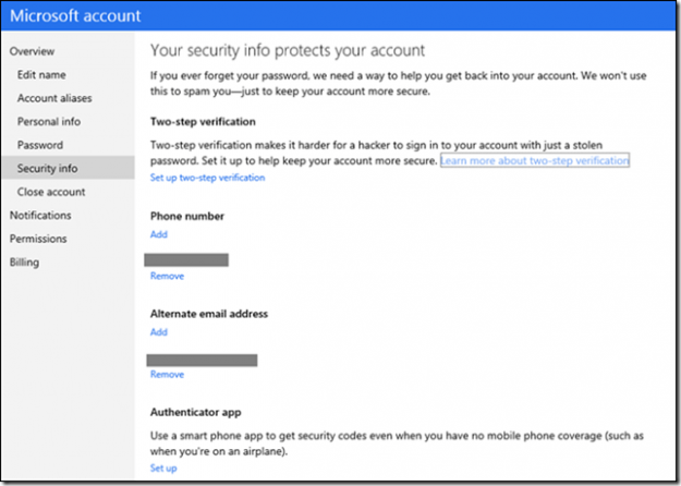 Microsoft Account_2step login setup