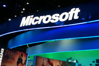 Microsoft CES Booth