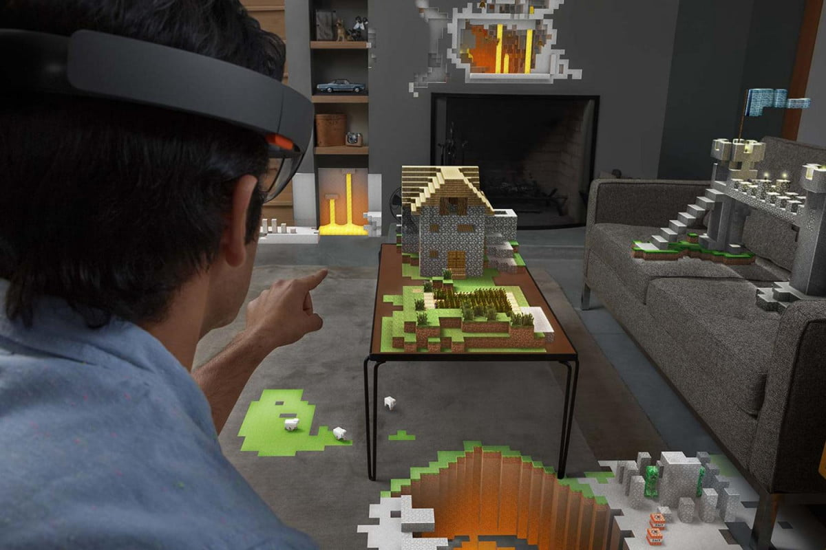 microsoft hololens will be in the hands of developers within a year and minecraft