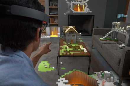 Microsoft HoloLens and Minecraft