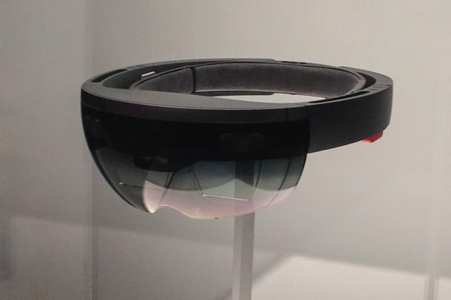 microsoft hololens will cost significantly more than a vidoe game console front angle