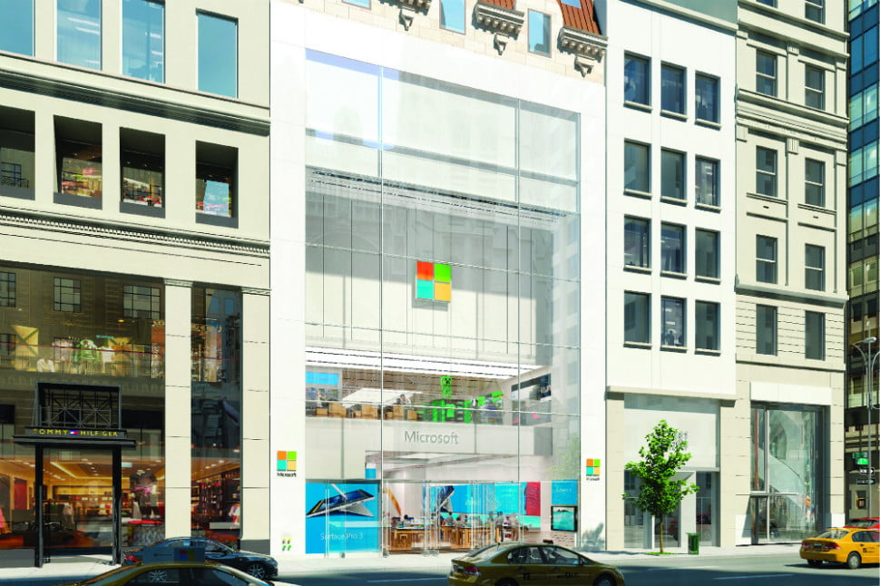 Microsoft to open big ny city store this month just a few for Store fenetre new york