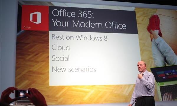 Microsoft Office 2012 Press Conference (image by CNET)