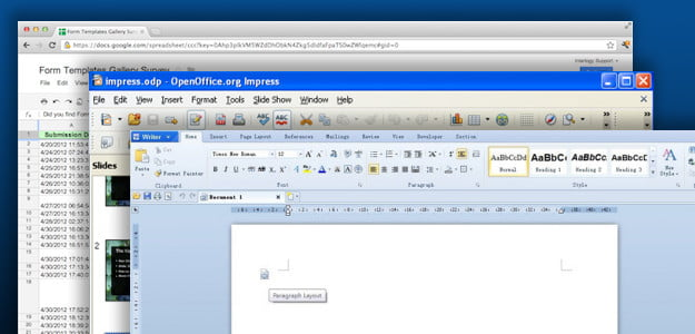 Microsoft Office alternatives google docs