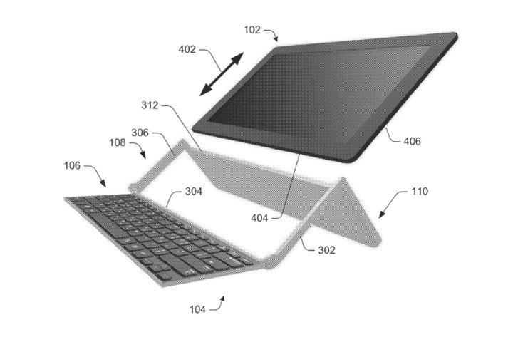 patent reveals design of microsofts new collapsible keyboard for computing device microsoft demo