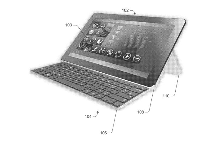 patent reveals design of microsofts new collapsible keyboard for computing device microsoft full