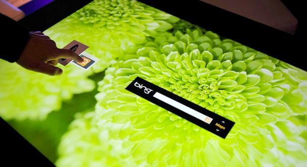 microsoft pixelsense touch surface table
