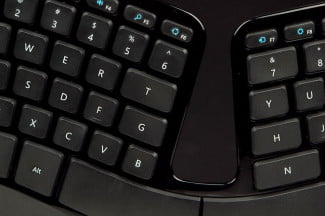 Microsoft Sculpt Ergonomic Keyboard keys center