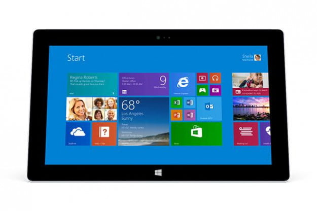 microsoft surface 2 front screen