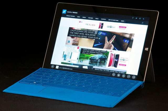 the surface is surprise success in microsofts latest earning report microsoft  front angle