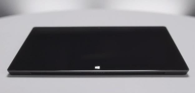 Microsoft surface black tablet closed off