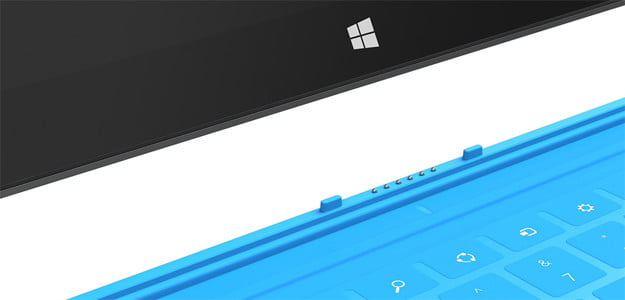 Microsoft Surface magnetic cover windows 8 tablet