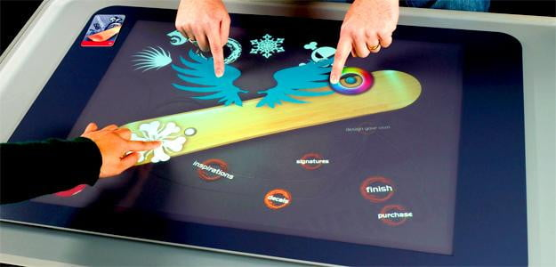 microsoft surface optical glass table table touch interface