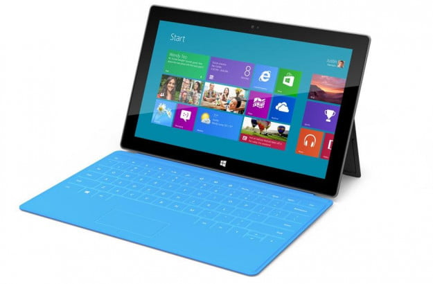 Microsoft Surface tablet with cover keyboard
