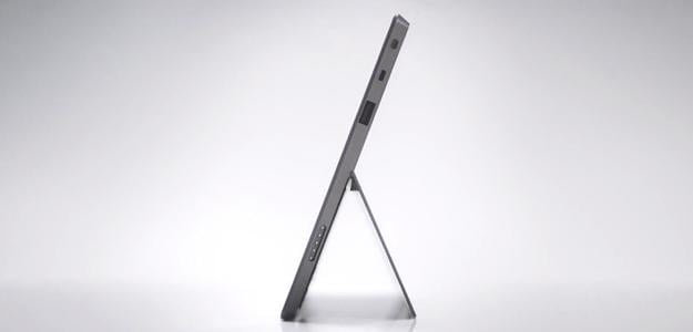 Microsoft surface tablet side view kickstand extended