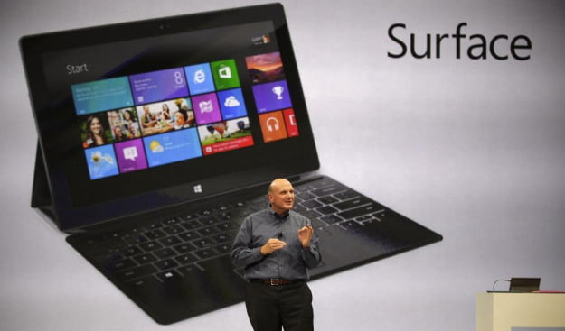 Microsoft Surface tablet and Steve Ballmer