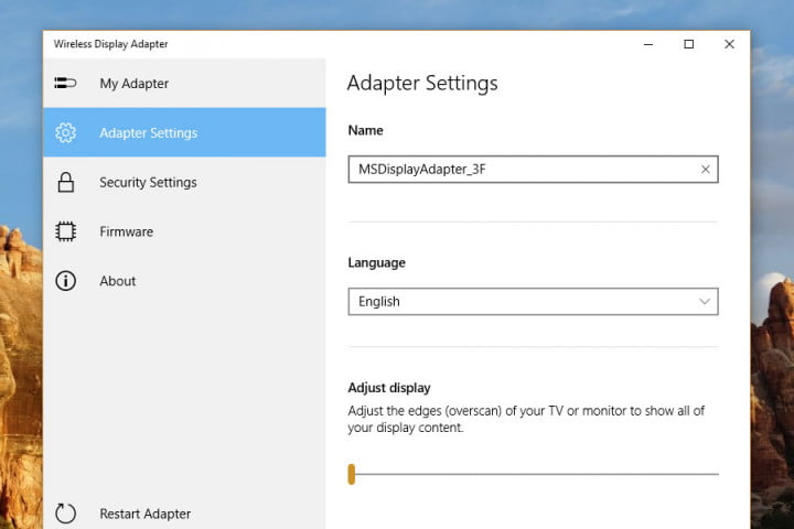 microsoft wireless display adapter v  review pc screenshot