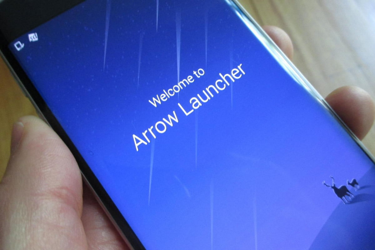 microsoft arrow launcher android splash screen