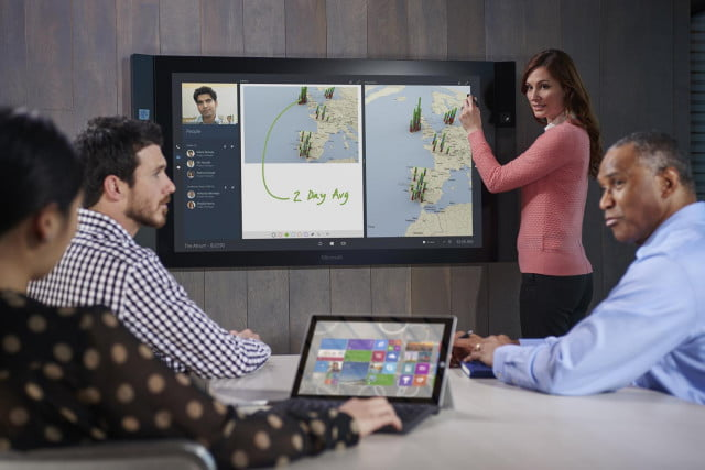 microsoft delays surface hub until january  a