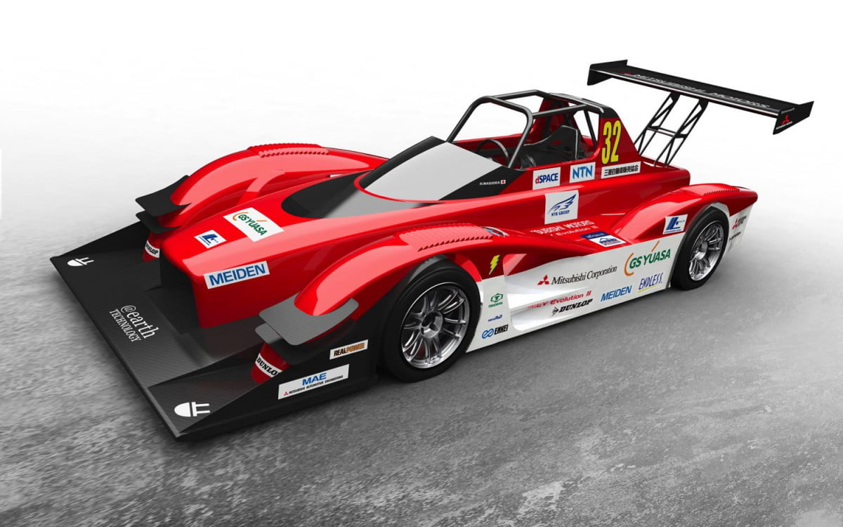 mitsubishi i miev evolution iii electric racer revealed