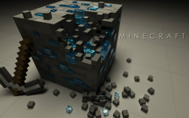 Minecraft Diamond Block Theme