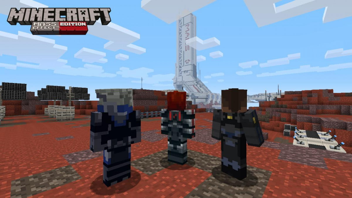 mass effect comes to minecraft on xbox  in the first mash up pack