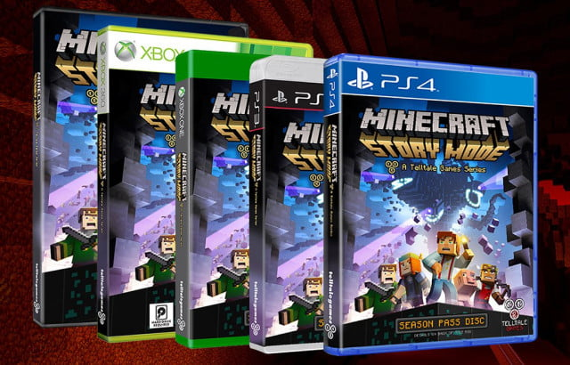minecraft story mode launches in october  minecraftstory retail header