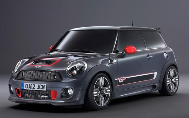2012 Mini John Cooper Works GP front three-quarter view