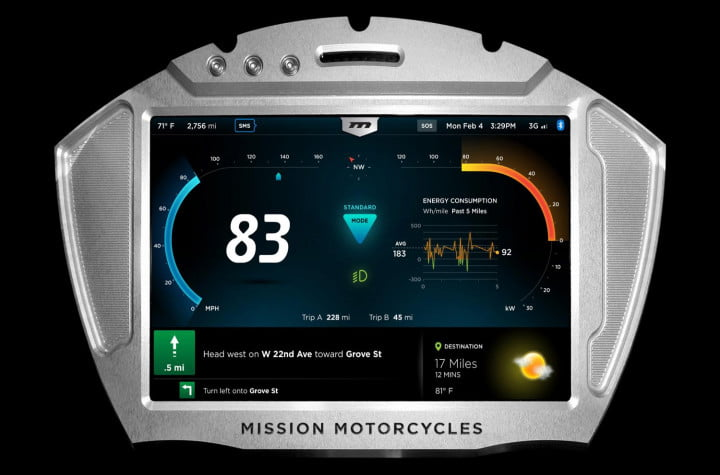 missions hot new  hp electric motorcycles one gear plus reverse mph and no shifting mission moto r display