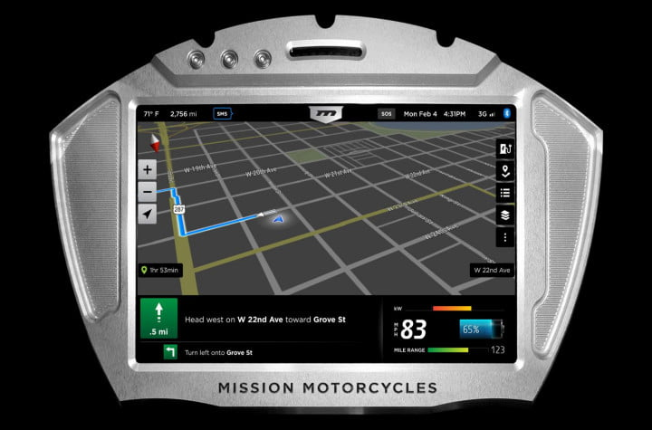 missions hot new  hp electric motorcycles one gear plus reverse mph and no shifting mission moto r maps screen