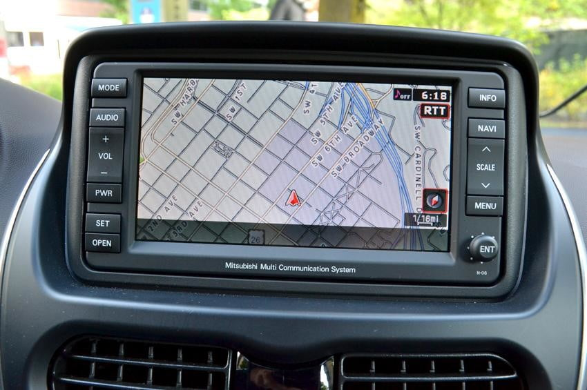 Mitsubishi i MiEV review interior middle gps control unit electric vehicle