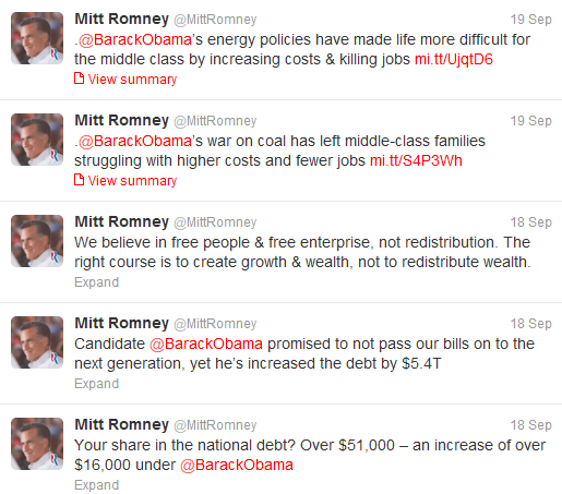 romney and the mention
