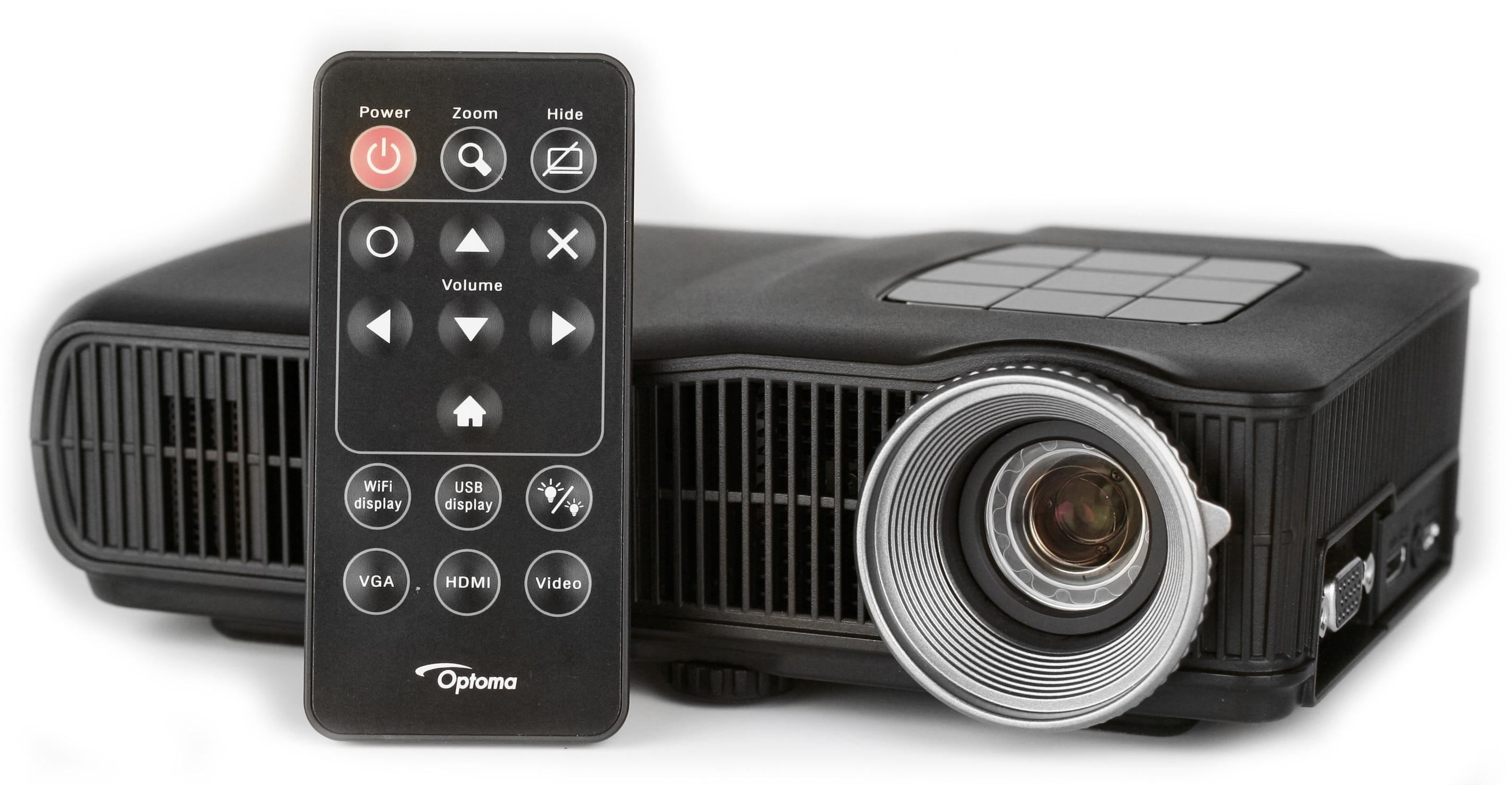 Optoma unveils an hd projector that fits in the palm of for Palm projector