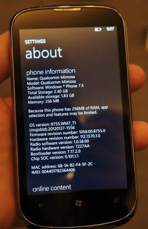 Mobileburn ZTE Orbit Memory Warning