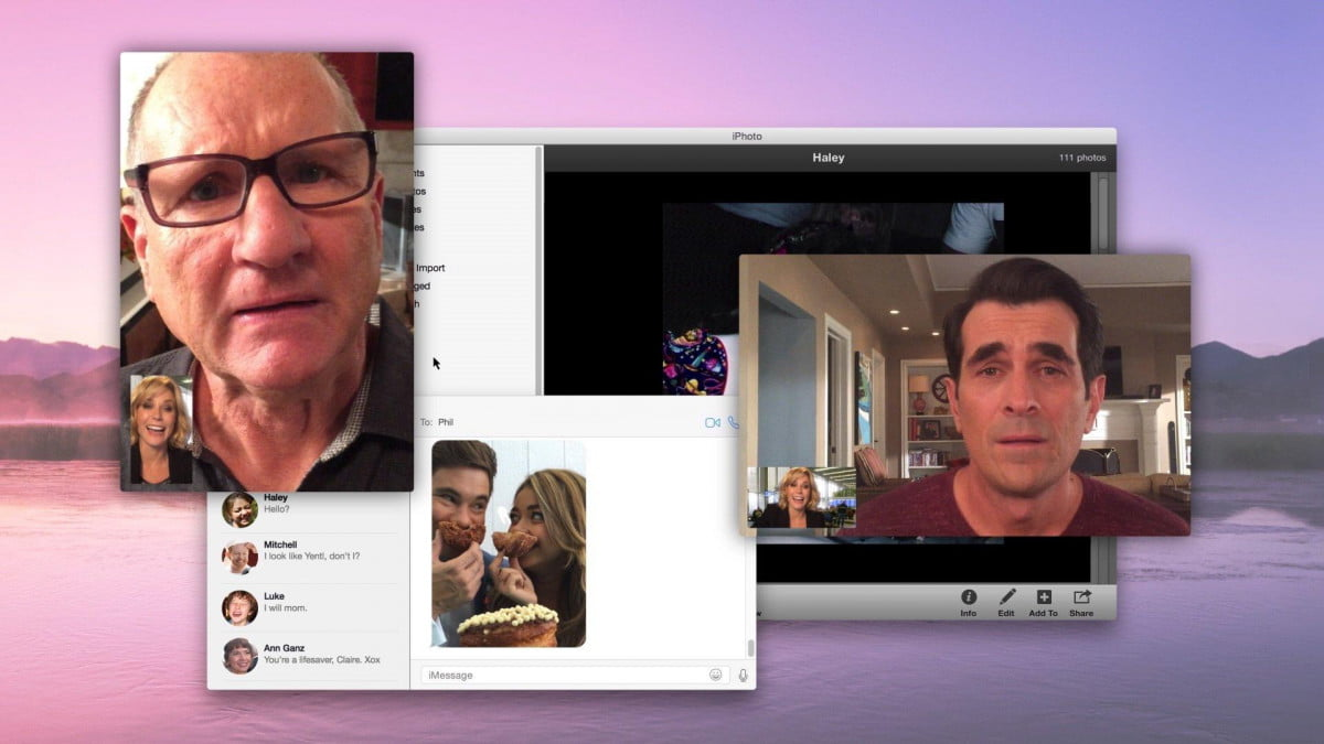 modern family episode shot iphone  ipad air connection lost