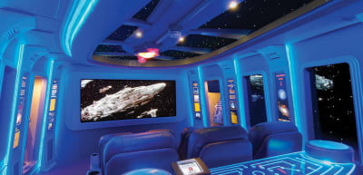 This is where Vader and Luke would watch movies.
