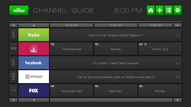 mohu channels gets time shifting and local file playback ui channel guide