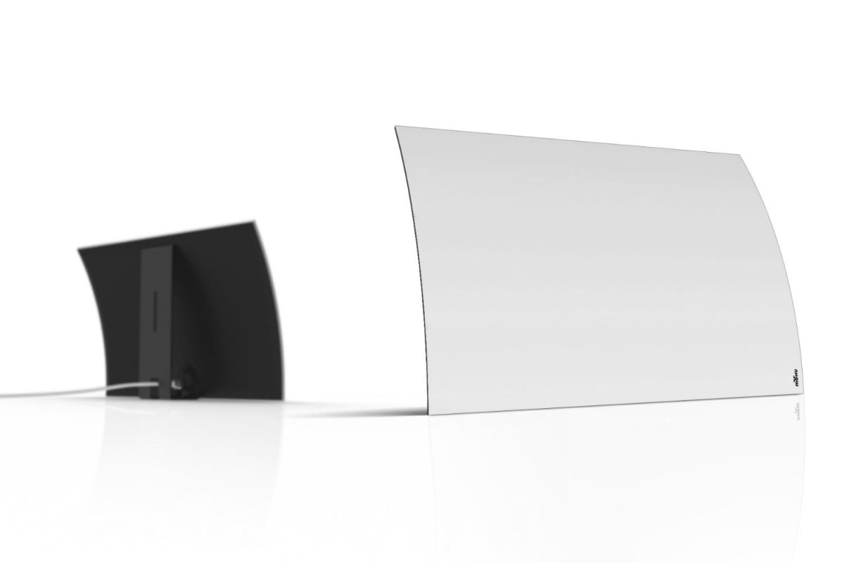 how do you make an hdtv antenna sexy put a curve on it mohu two angles hi res