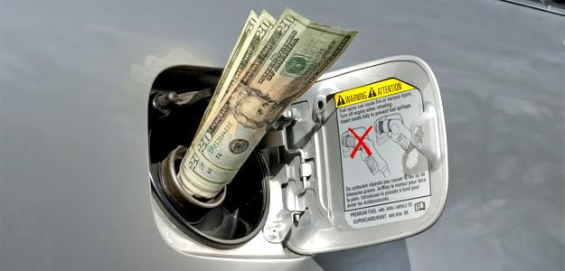 money into gas tank CAFE standard fuel economy