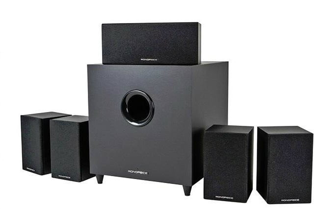 monoprice premium home theater system with subwoofer deal