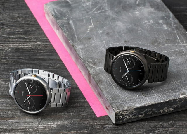 moto  new bands watch faces metal