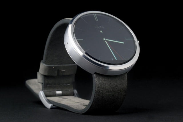 Moto 360 Watch front angle full