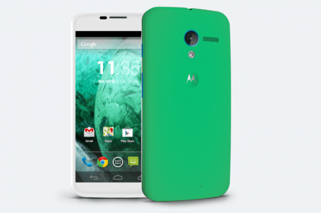 Moto Maker Moto X Spearmint with blue
