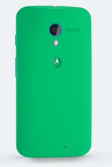 Moto X in Spearmint green